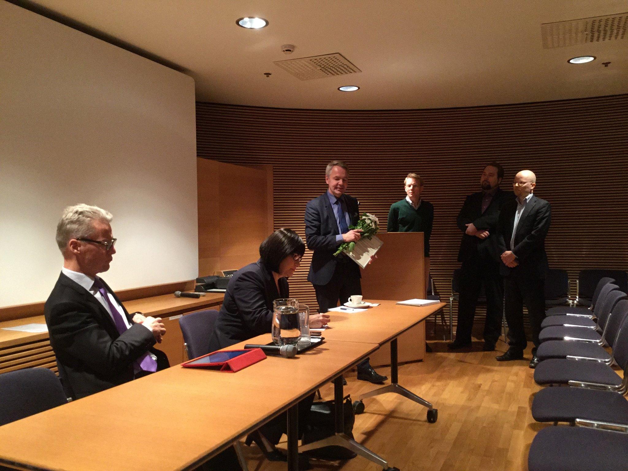 Rauhanpalkinto Pekka Haavistolle